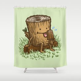 The Popsicle Log Shower Curtain