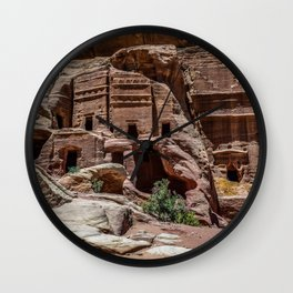 Petra, Jordan Desert Nabatean Ancient City Ruins Wall Clock