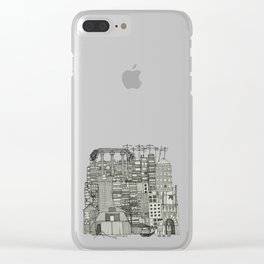 dystopian toile mono Clear iPhone Case