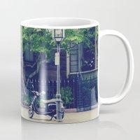 vespa Mugs featuring Vespa by thirteesiks