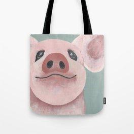 Original Painting - Farm Friends - Baby Pig - Cute Pig Painting Tote Bag