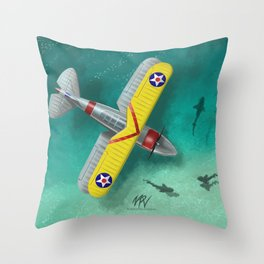 Duck in Trouble Throw Pillow