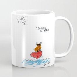 """""""You rock my world"""" french bulldog art by BoubouleArt Coffee Mug"""