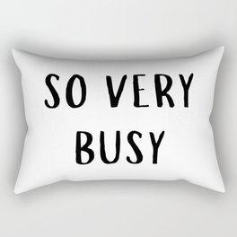 So Very Busy Rectangular Pillow