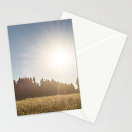Sunny Oregon meadow full of wildflowers Stationery Cards