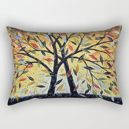Abstract Art Landscape Original Painting ... New Day Dawning Rectangular Pillow