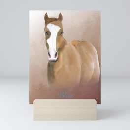 A Horse Named Blue; a Memorial Portrait.  Mini Art Print