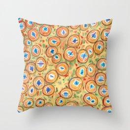 Marvelous Galaxies Pattern Throw Pillow