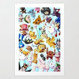 It's Raining Cute Art Print