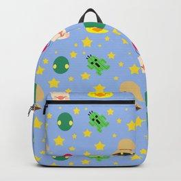 final fantasy pattern blue Backpack
