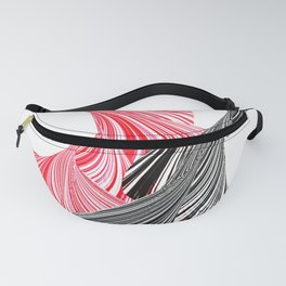 tango for two minimal abstract digital painting Fanny Pack