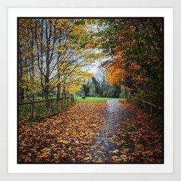 A Stroll Along the Path to Autumn Art Print