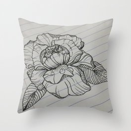 Classroom Peony Throw Pillow