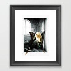 a hipster fairy Framed Art Print