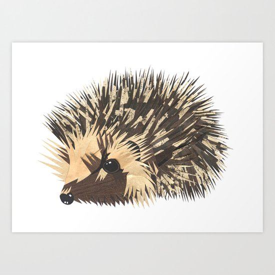 Little Hedgehog Art Print