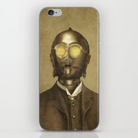 victorian iPhone & iPod Skins featuring Baron Von Three PO  by Terry Fan