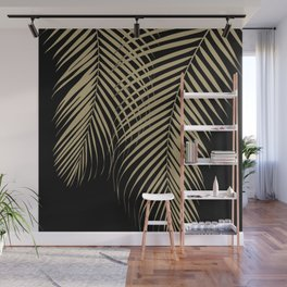 Summer Night Palm Leaves #2 #tropical #decor #art #society6 Wall Mural