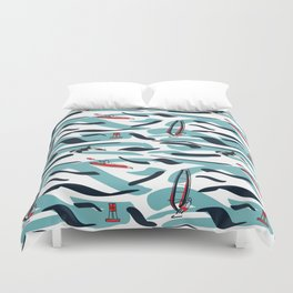 A Day on the Water Duvet Cover