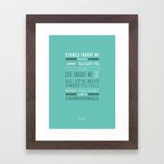 Lyrical Type - Cannonball Framed Art Print