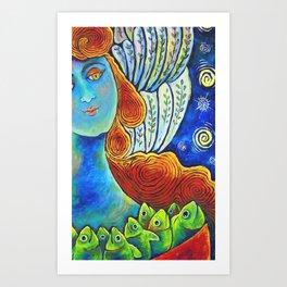 Angel with Plenty Art Print