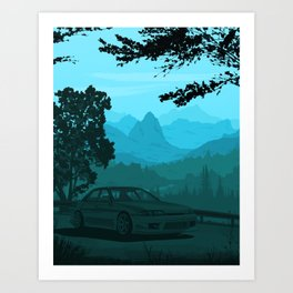 Touge Gradient 02 Art Print