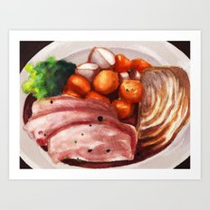 Cornbeef and Cabbage Art Print