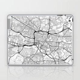 Glasgow Map White Laptop & iPad Skin