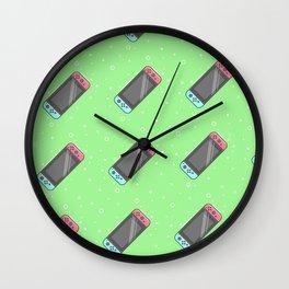 Switch Pattern Green Wall Clock
