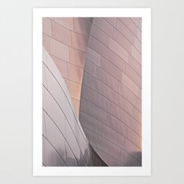 Sunrise architectural abstract of the LA Phil designed by Frank Gehry Art Print