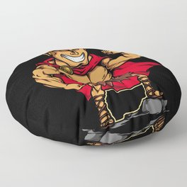 Hercules Illustration Floor Pillow