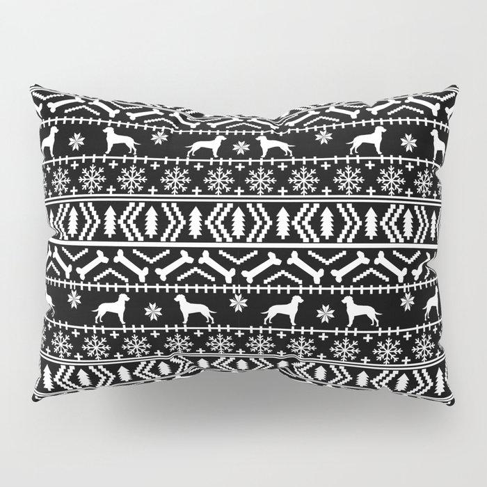 Dalmatian fair isle christmas pattern minimal holiday festive dog breed Pillow Sham