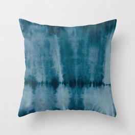 Tye Dye Denim Throw Pillow
