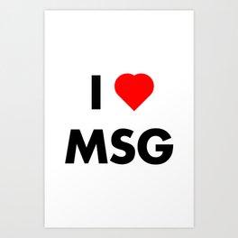 I Heart MSG Art Print