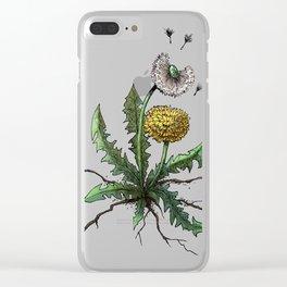 Dandelion - Taraxacum officinale Clear iPhone Case