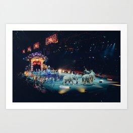 Circus, Elephants Art Print