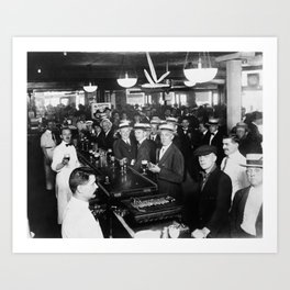 Drinking Before Wartime Prohibition - NYC - June 30, 1919 Art Print
