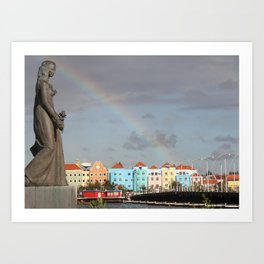 Rainbow over Willemstad Curaçao Art Print