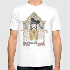 Delusional MEDIUM Mens Fitted Tee White
