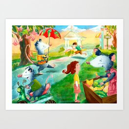 Posssum Promenade  Art Print