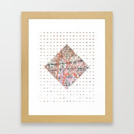 Flight of Color - diamond graphic Framed Art Print