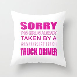 Taken By A Truck Driver Throw Pillow