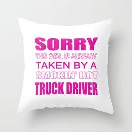 Taken By A Truck Driver Throw Pillow