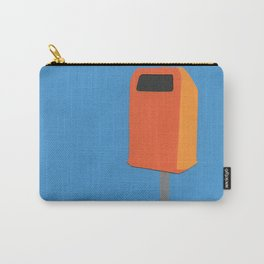 Orange Trash Can Carry-All Pouch