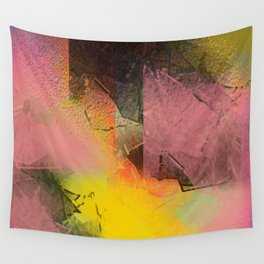 Broken Glass in Pink and Gold Wall Tapestry