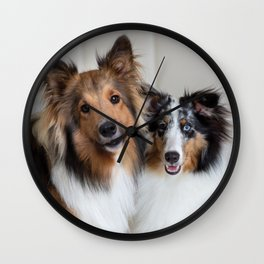 Cute dogs couple Wall Clock