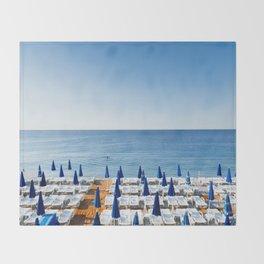 Morning Beach Throw Blanket