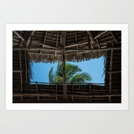 A Palm Tree Kind of Day Art Print