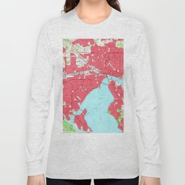 Vintage Map of Jacksonville Florida (1964) 2 Long Sleeve T-shirt