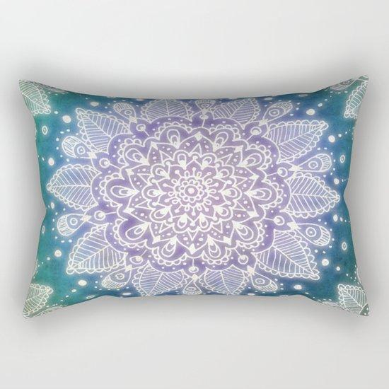 Peacock Mandala Rectangular Pillow