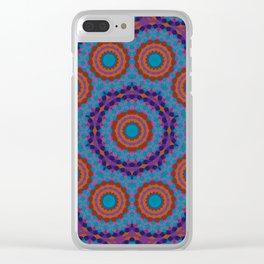 Mosaic Mandala Clear iPhone Case